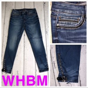 WHBM ankle zipper jeans